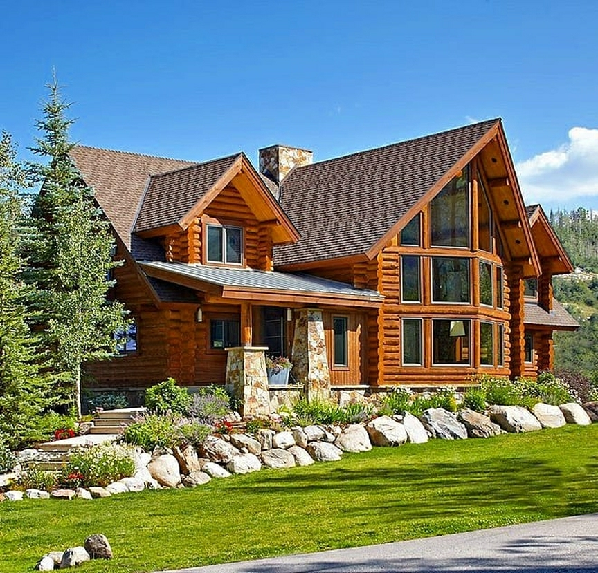 very manly mountain home
