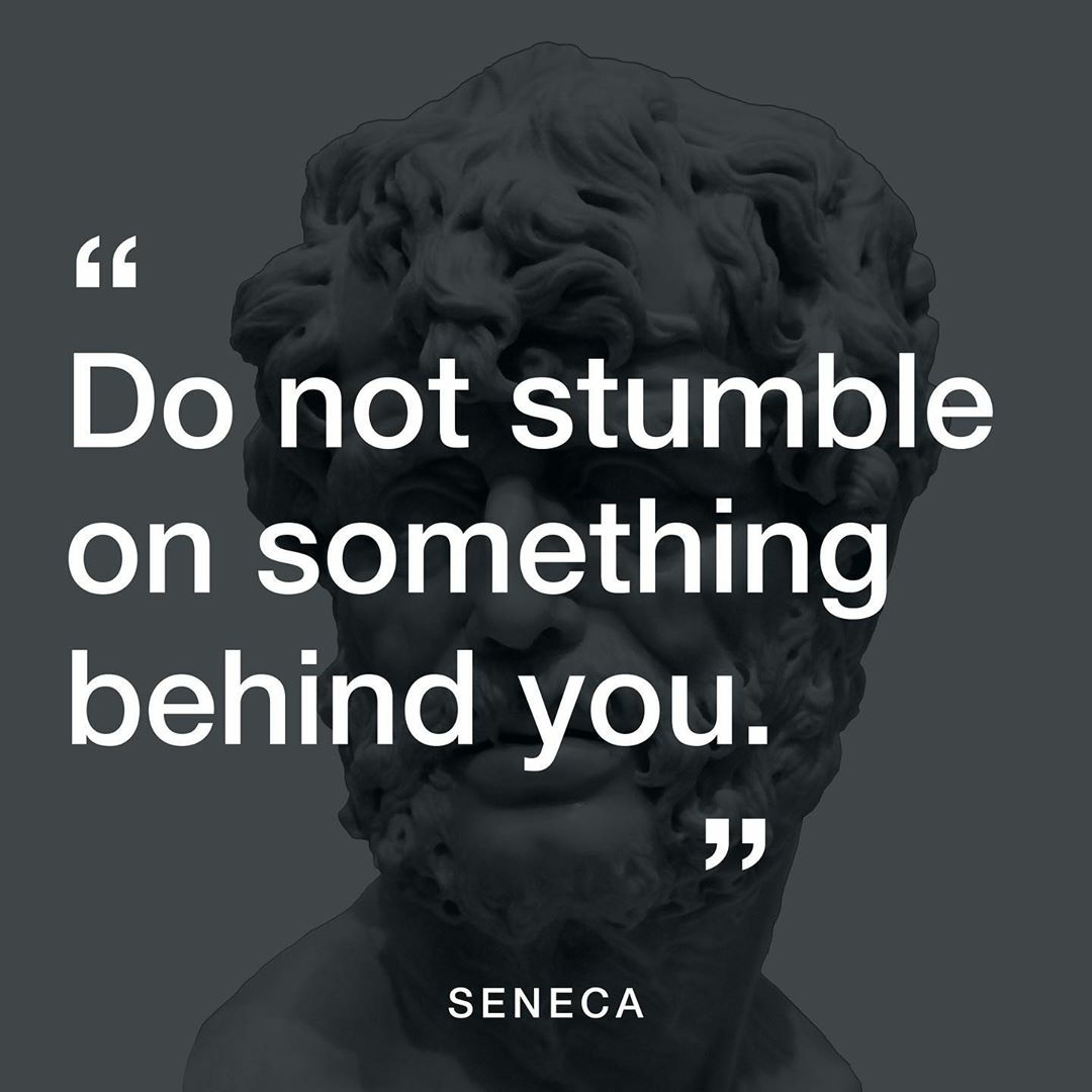 do not stumble on something behind you