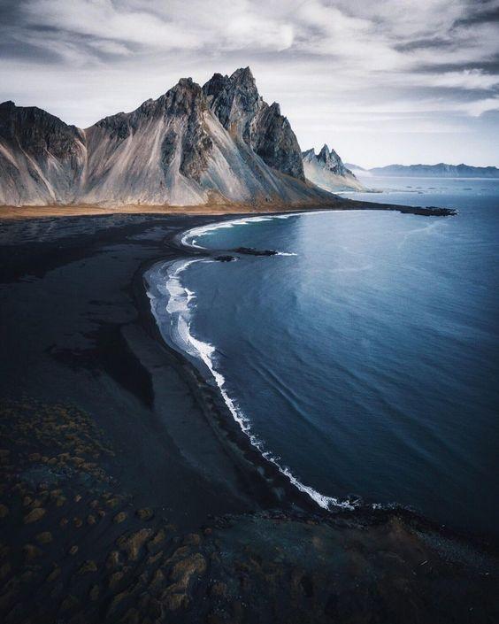 Höfn Black Sand Beach Iceland