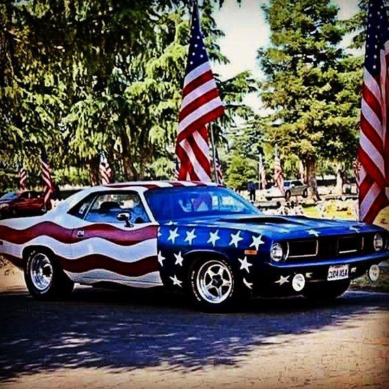 patriotic dodge challenger