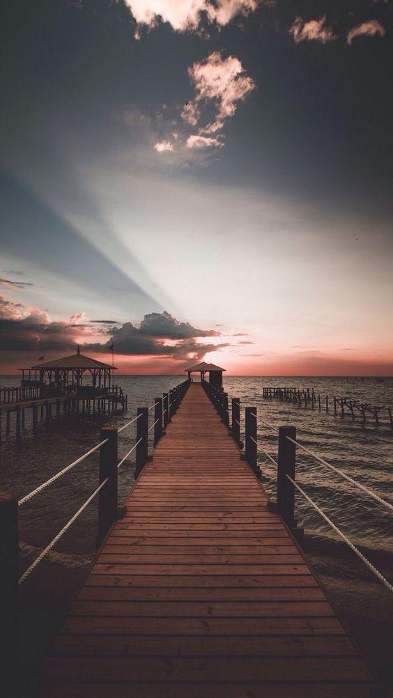 pier sunrise