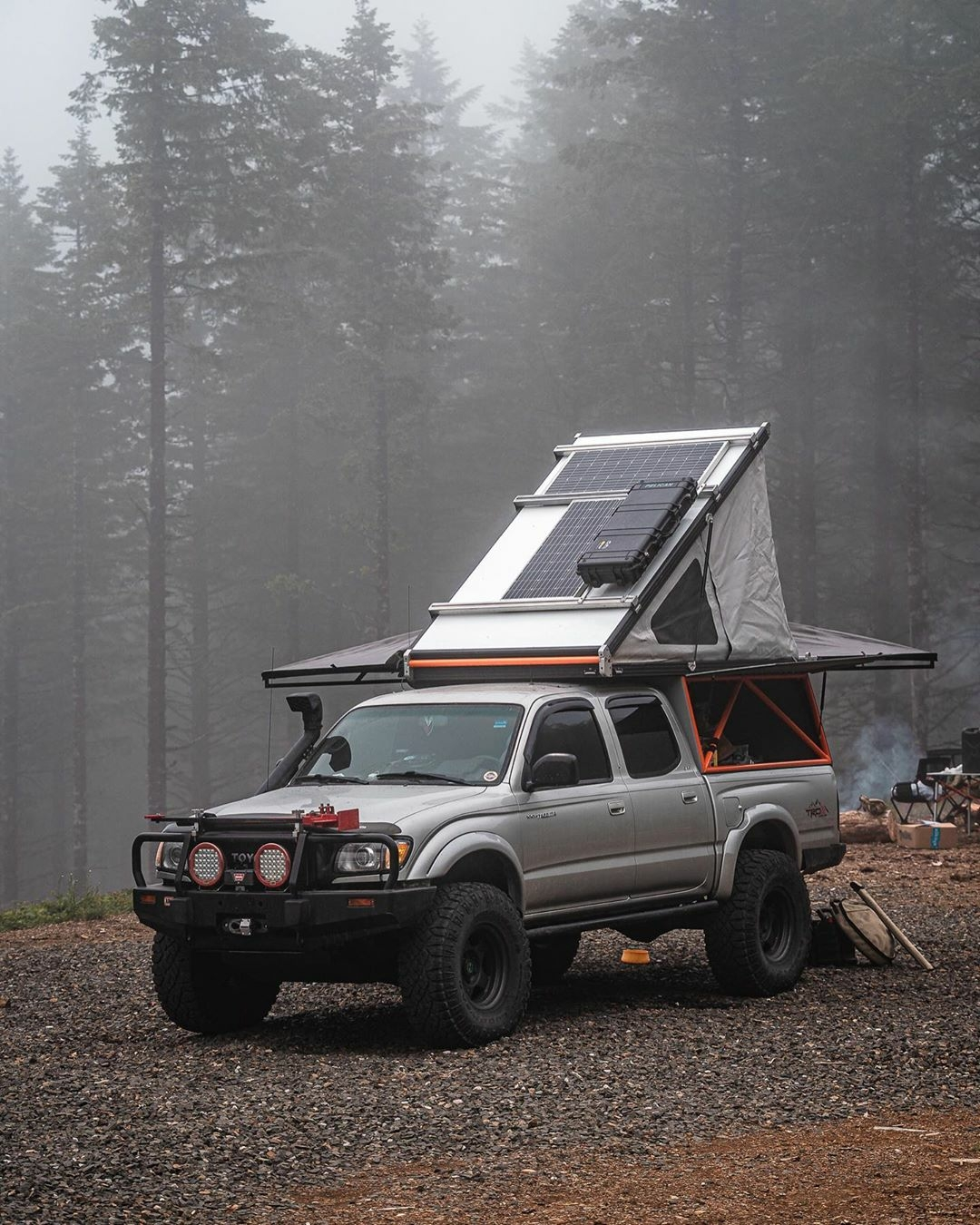 truck camper with solar panels