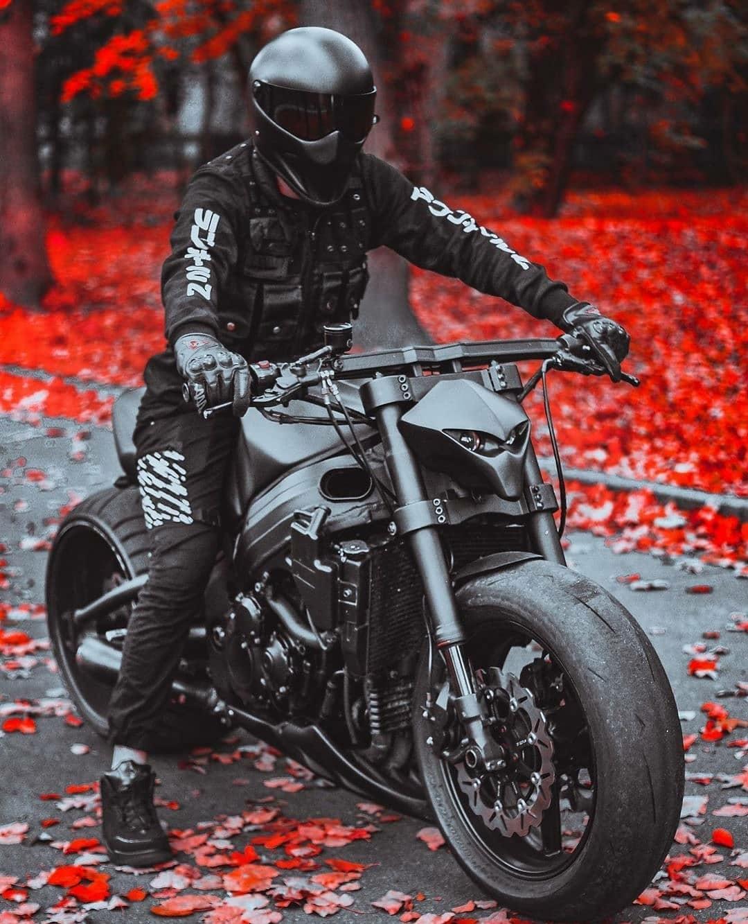mean looking motorcycle