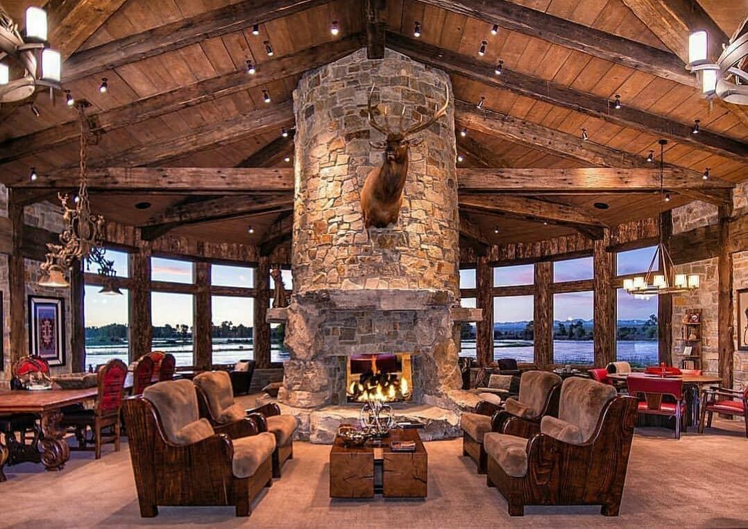 rustic lodge interior