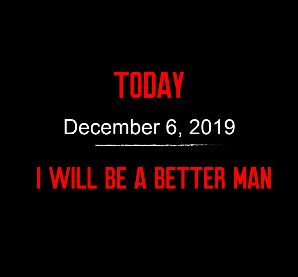 better man 12-6-19