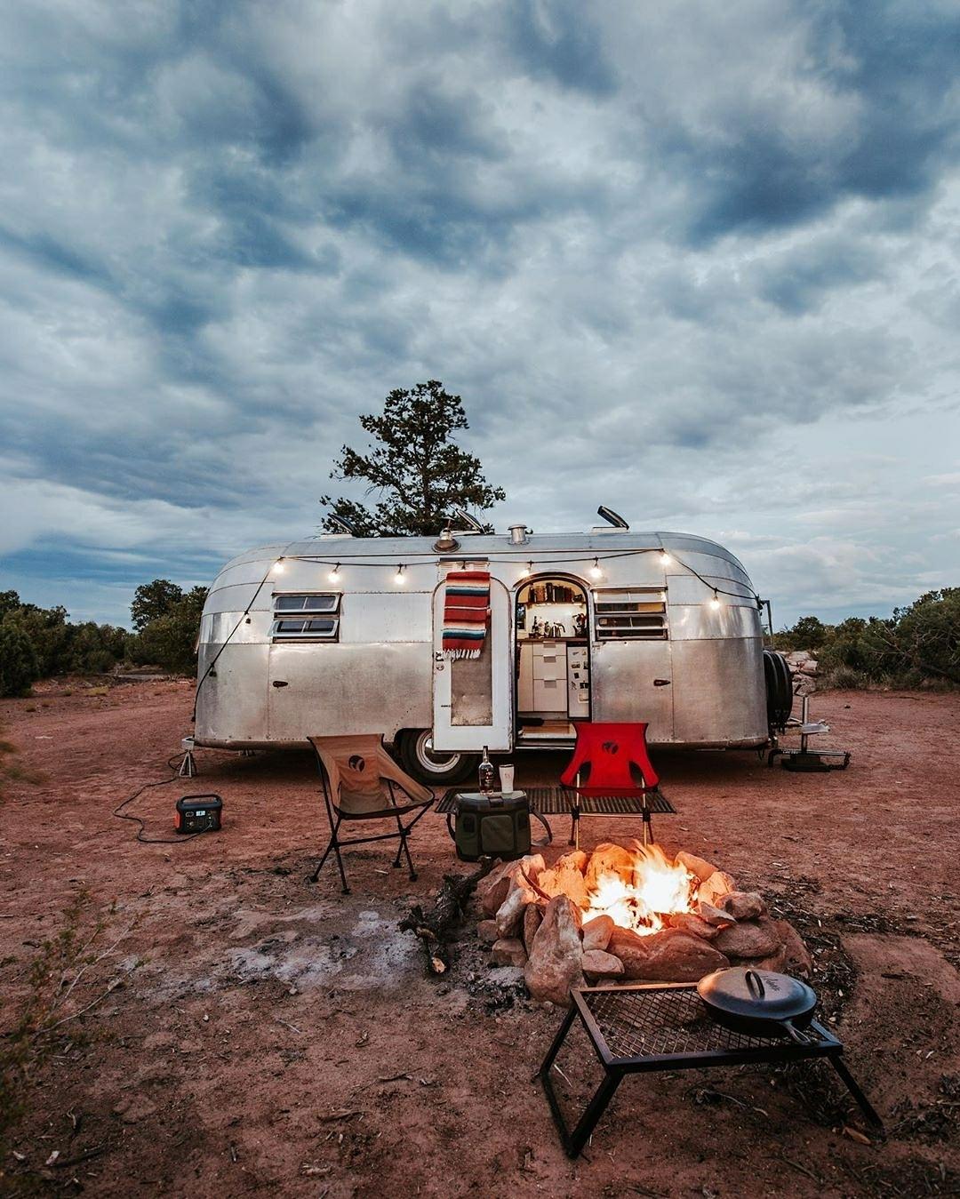 camper at campsite