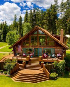 large summer cabin