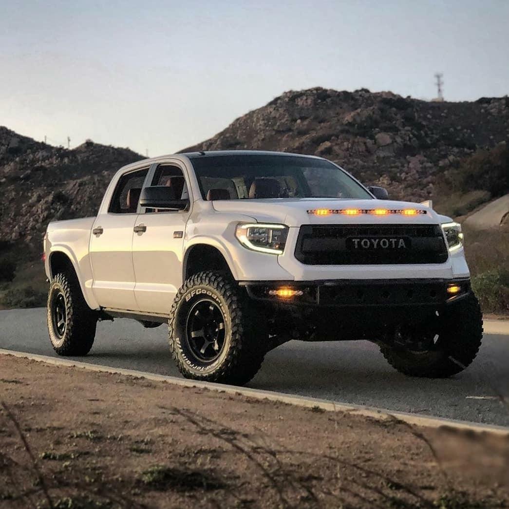 nice white toyota pickup truck