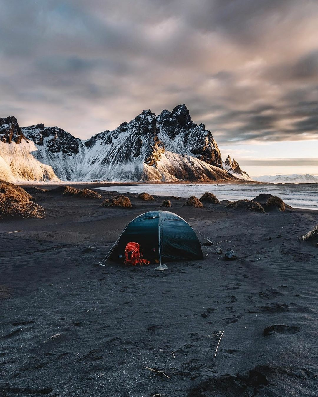 tent on beach