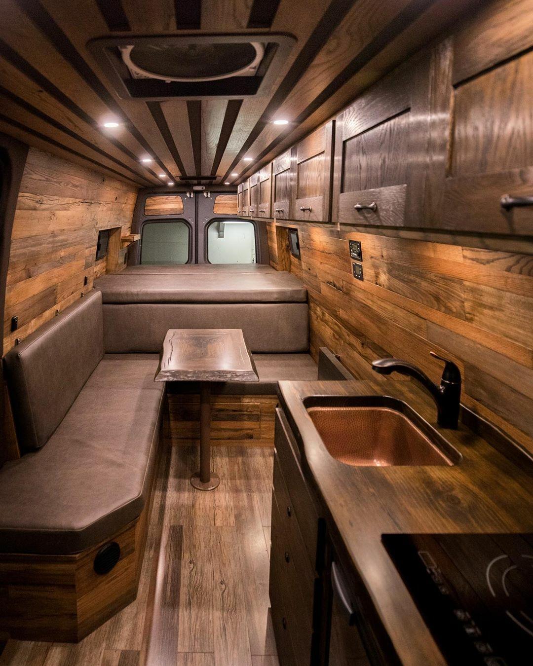 wood interior camper van