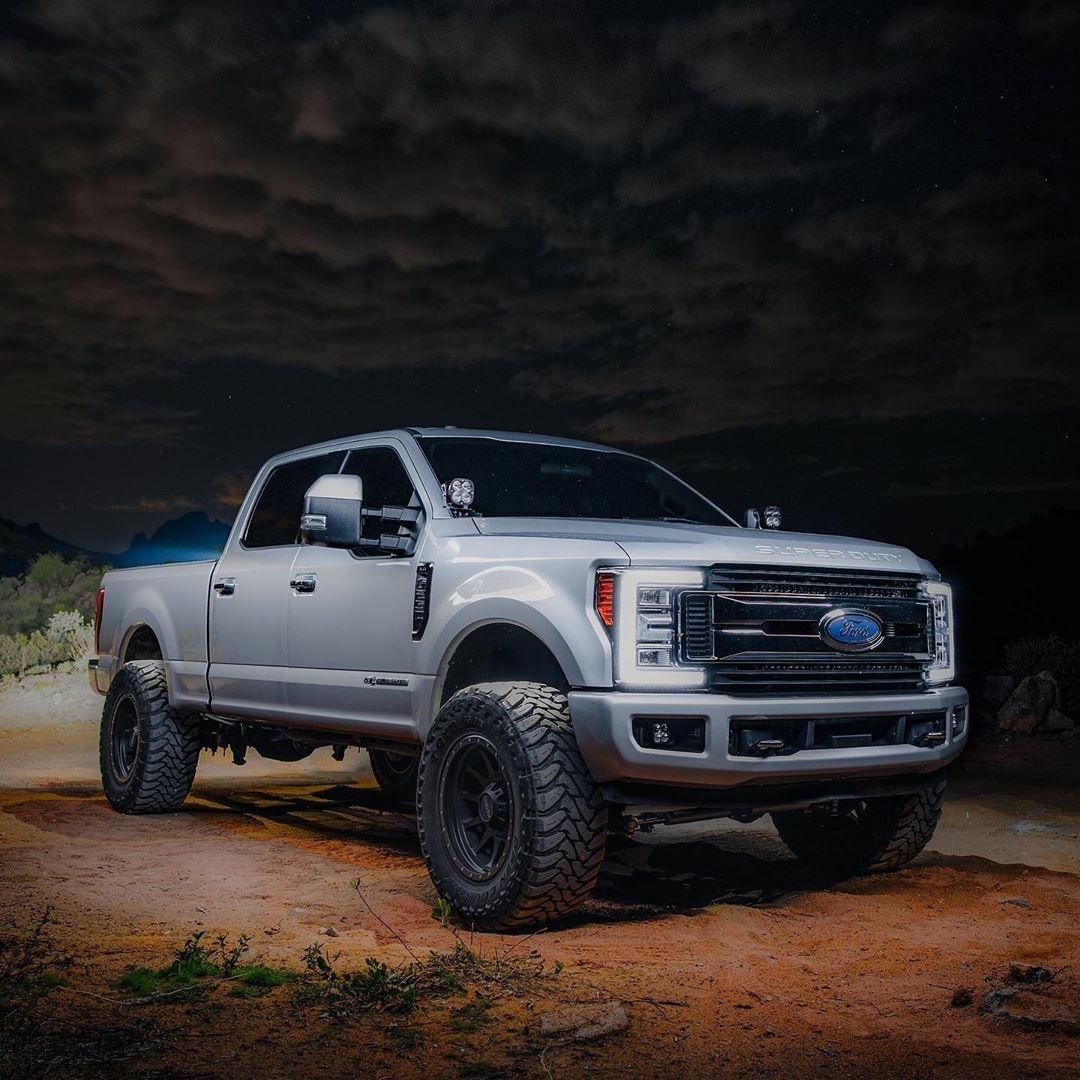 ford super duty truck under dark sky
