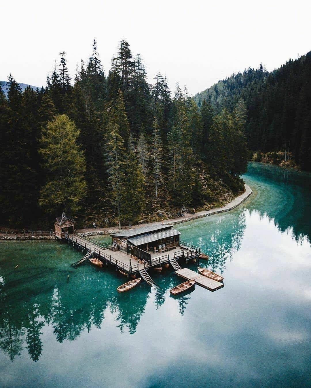 boat dock summer lake