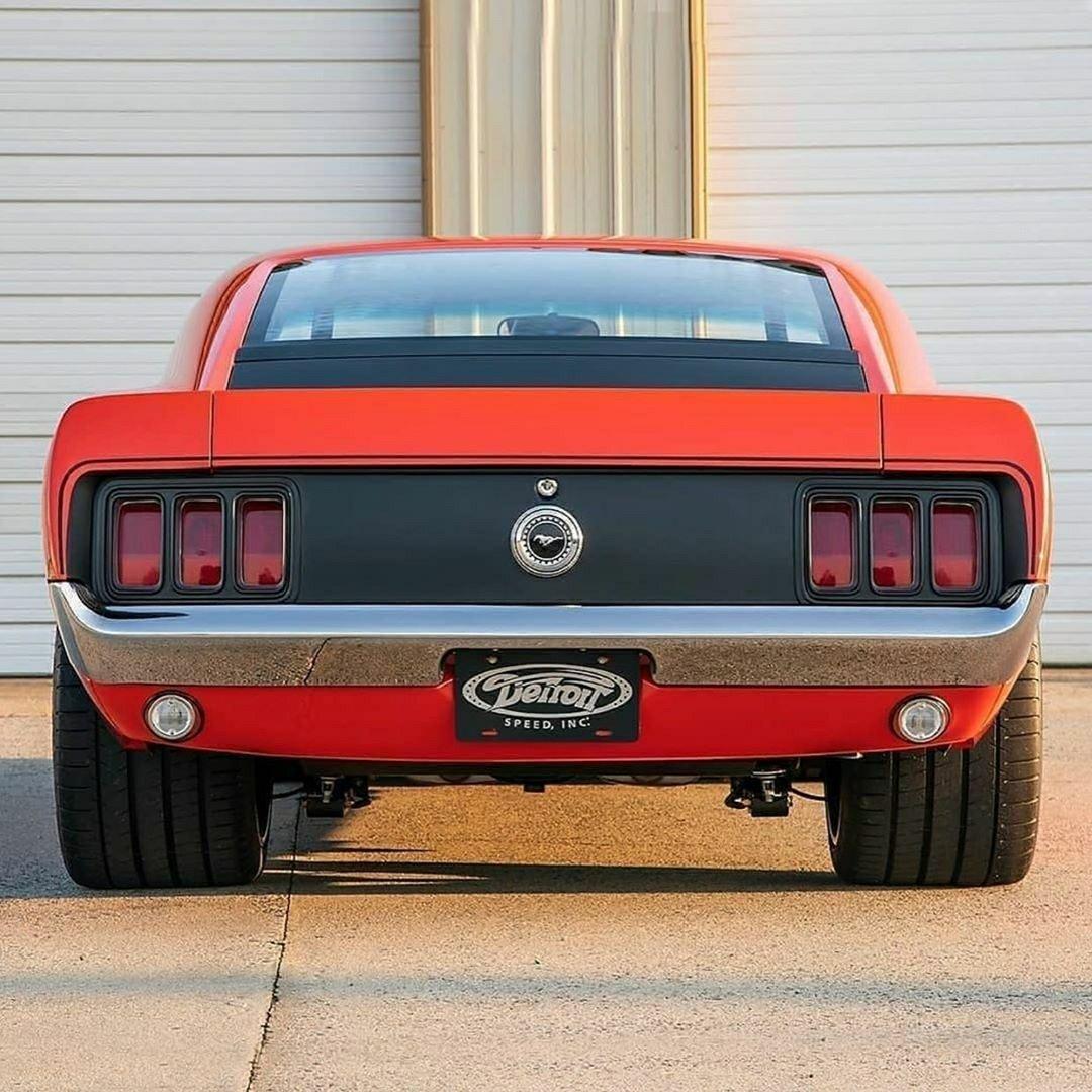 1970 Mustang rear view