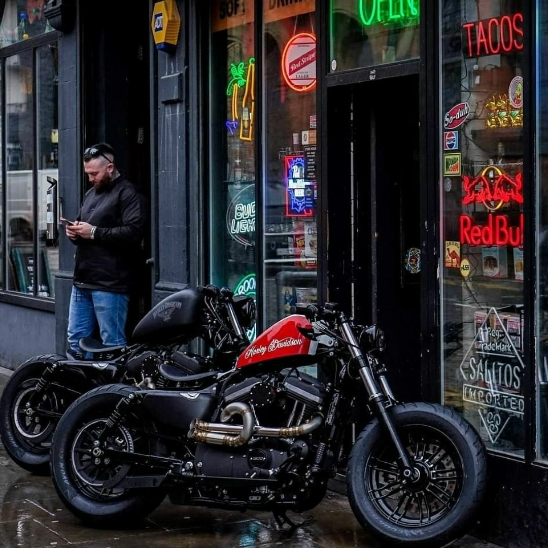 a couple of Harley sportsters