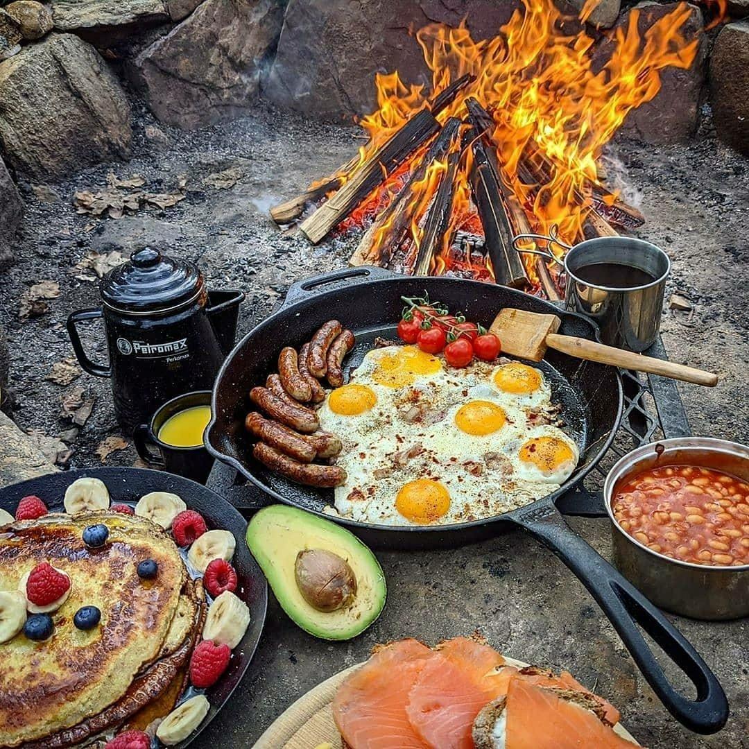 big breakfast camping