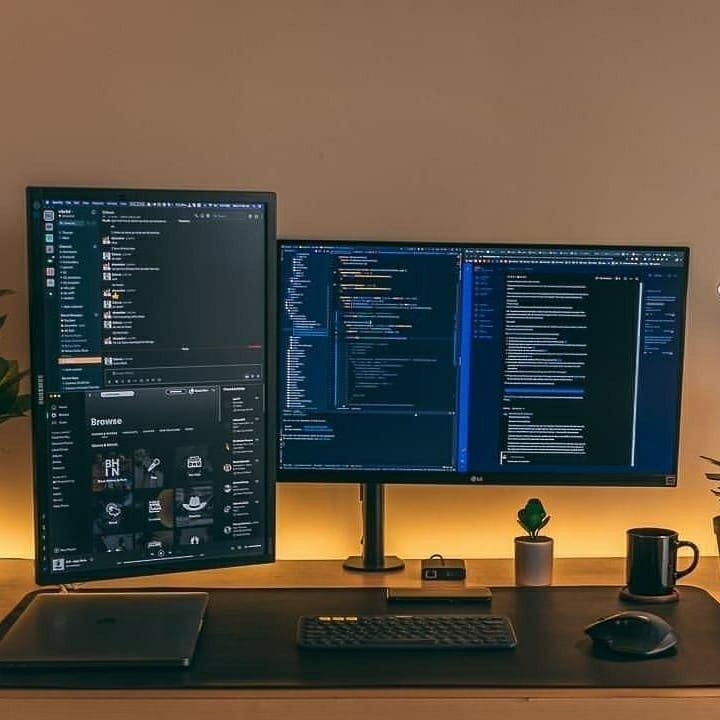 clean office setup