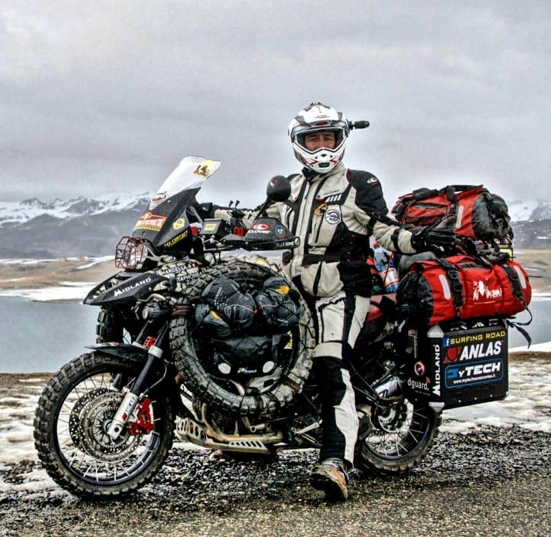 fully loaded motorbike