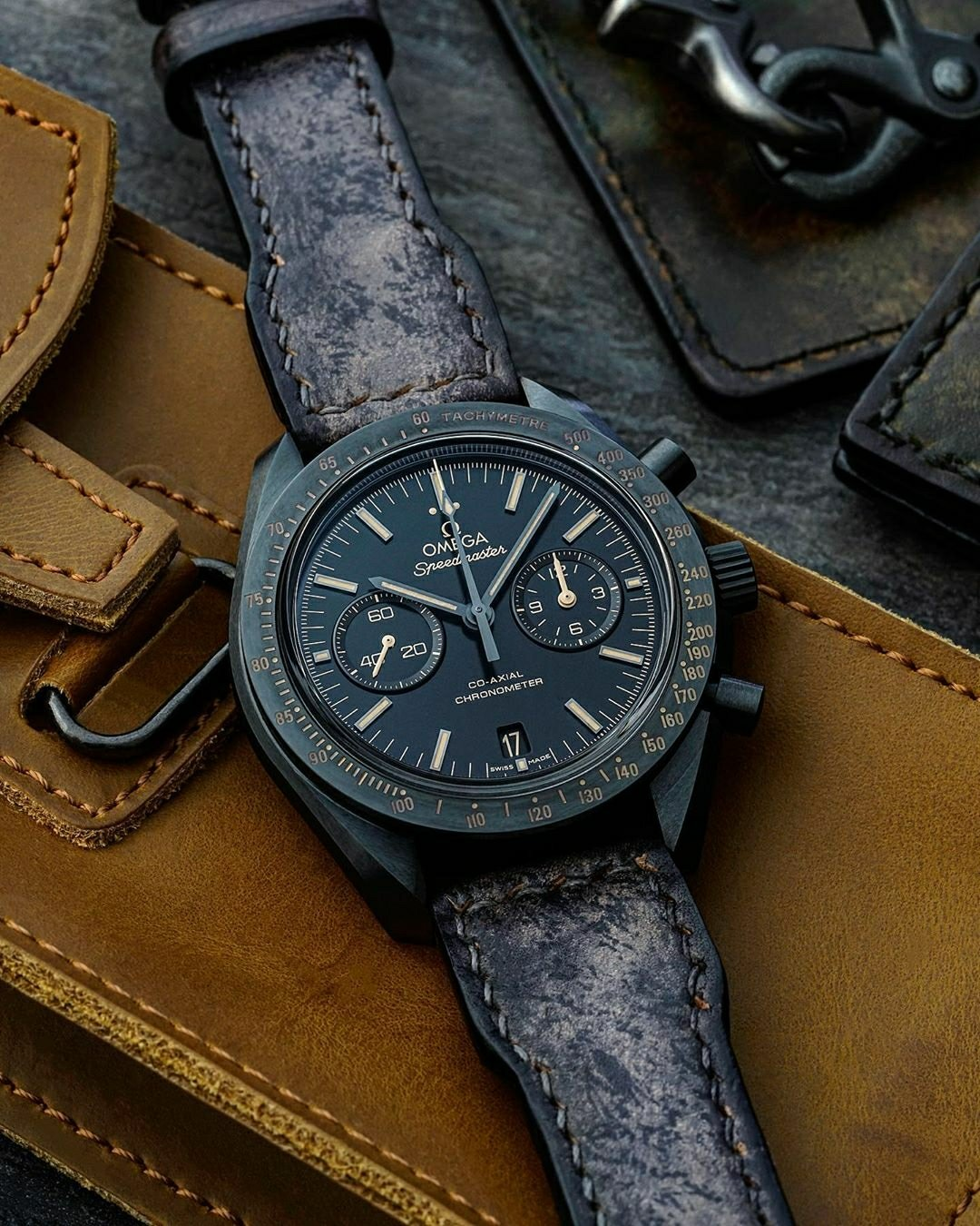 distressed omega watch