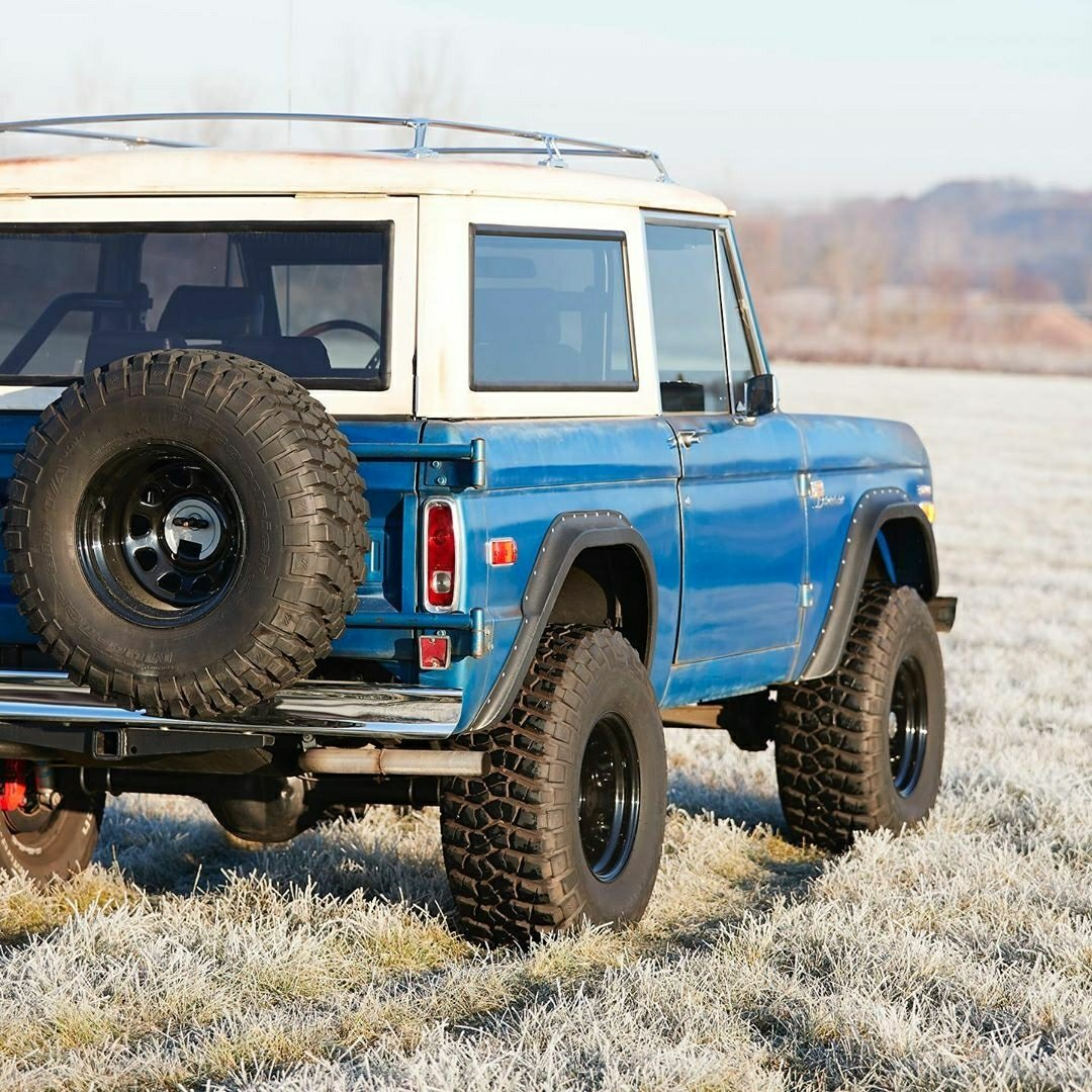 blue classic ford bronco